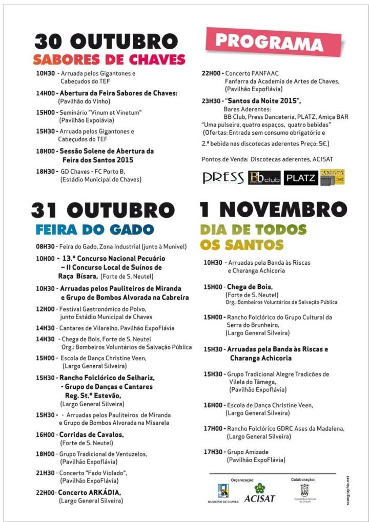 Feira dos Santos_Chaves 2015_programma